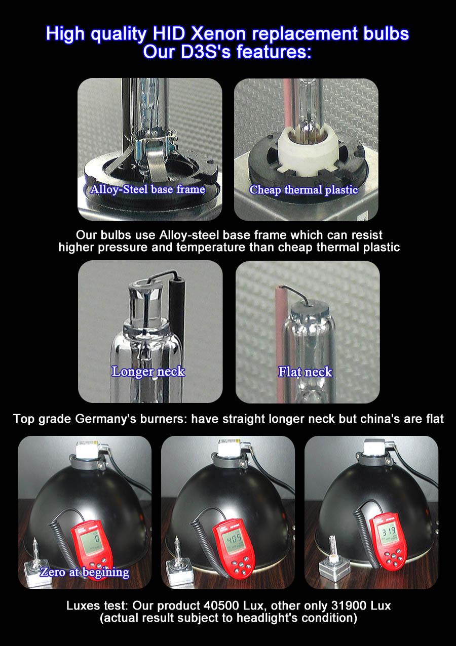 ProGear Tech  HID Xenon headlight replacement bulbs